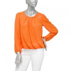 Oranje blouse met lange mouwen